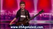 9 годишен китарист Noble Latz вдига публиката на крака - - Americas Got Talent 2009