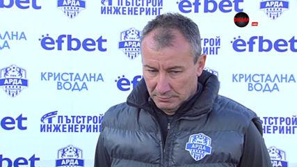 Стамен Белчев: Футболът първо трябва да се играе с глава, после с крака