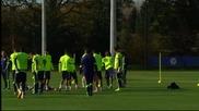 ВИДЕО: Челси тренира без част от звездите си за Марибор