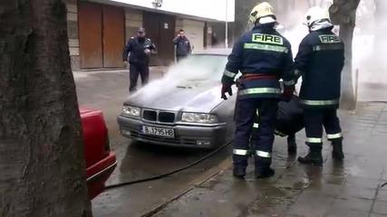 пожар на Бмв във Варна