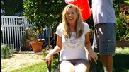 Ashley Ludwig accepts the Als Ice Bucket Challenge