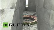 Armenia: Hollande arrives for 100th Armenian mass-killings anniversary