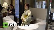 Japan: Humanoid robot receptionist debuts at Tokyo department store