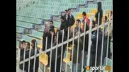 Small crowd of sailors for the match against Cska