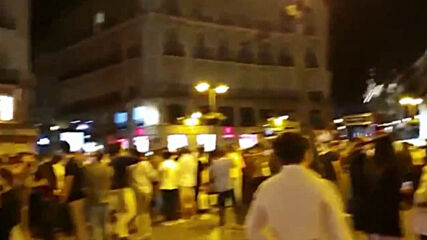 Spain: Crowd celebrates end of state of alarm in Madrid's Puerta del Sol