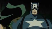 Персонажите Капитан Америка и Пепелянката от анимацията Отмъстителите: Най-могъщите герои на Земята
