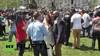 USA: Couple cancels their wedding to join protest at Baltimore City Hall