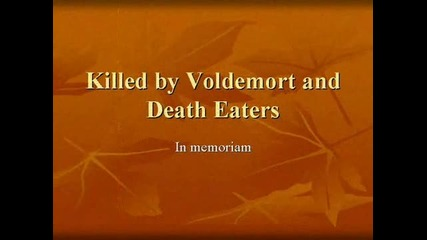 Tribute to the dead in Harry Potter
