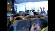 Бои с визглавници в самолета !