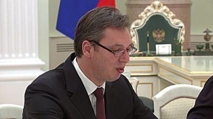 Russia: Putin meets Serbian PM Vucic to discuss bilateral ties