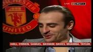 Интервю на Димитър Бербатов преди мача на Манчестър Юнайтед с Болтън
