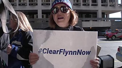 USA: 'Clear Flynn now!' - Flynn supporters rally outside DC court