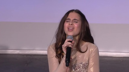 Carly Rose Sonenclar пее Rolling in the deep - Gannett Front 2013