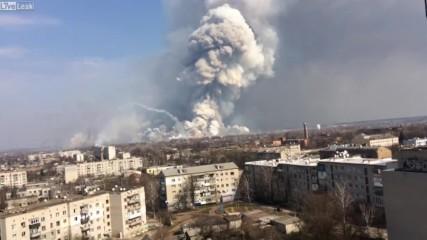 Взриви се склад за пиротехника в Украйна
