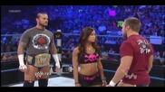 Aj Kissed Cm Punk and Daniel Bryan