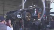 Унищожаване на Lamborghini Murcielago на стойност 380,000$ в Тайван!