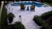 Girl Loses Her Hoverboard In Her Pool on Christmas Day