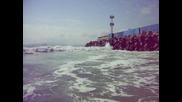 Бургас, морето, силно вълнение, кеф...