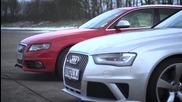 Revo Technik Audi S4 V6 vs Audi Rs4 V8