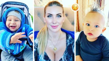 Антония Петрова е удивена: Синът й проходи на едва 9 месеца, убедена е - пръв ще е във всичко!