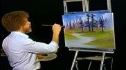 S04 Радостта на живописта с Bob Ross E10 - тихи дървета ღобучение в рисуване, живописღ
