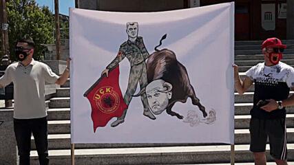 Serbia: KLA veterans protest war crimes charges against Kosovo President Thaci