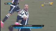 Рад Белград - Партизан 2:2 ( Два гола на Божинов )