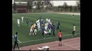 ** Прекрасен бой на футболен мач