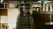 Пиян тийнейджър не успя да вземе ескалатора