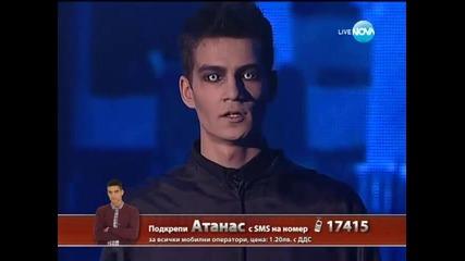 X Factor финал - Атанас Колев първо изпълнение - 20.12.2013 г.
