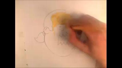 Рисуване на Продавача на комикси