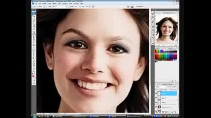 applying makeup on photoshop