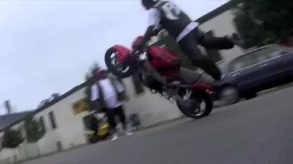 Jadakiss Video Shoot Ruff Ryders Crazy Bike Stunts quot