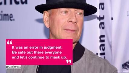 Защо Брус Уилис отказа да носи маска?