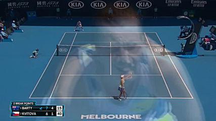 Ash Barty vs Petra Kvitova - Extended Highlights Qf Australian Open 2020