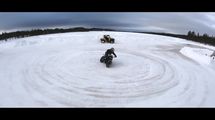 Extreme Motorcycle Snow Drifting by Jorian Ponomareff