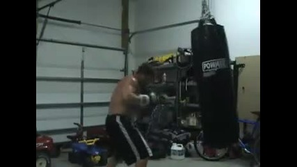 Heavy bag work