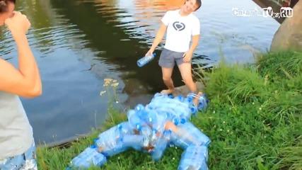Забавление по руски - Шоу Идиоти - Човека бутилки