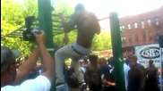 Muscle up competition - -5b's Pull Up Park Jam