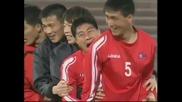 Как Северна Корея загрява за Световно първенство ! ( Смях)