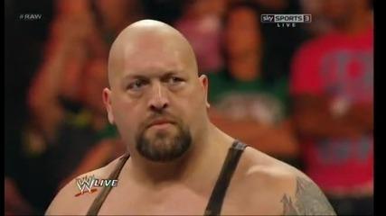 Big Show нокаутира Brodus Clay и Tensai // Wwe Raw 24.9.12