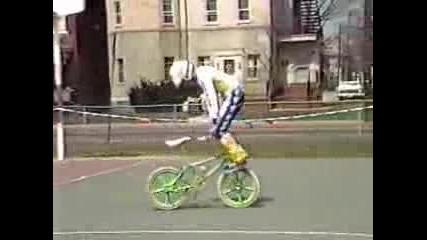 Old School Bmx bike stunts Columbus Ohio 1986