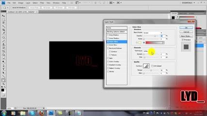 Как да си направите неонов текст с Adobe Photoshop Cs4