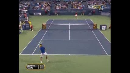 Nadal - Djokovic Cincinnati Sf.part4