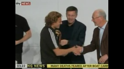 Касийяс, Форлан и Мюлер получиха наградите си от Мондиал 2010
