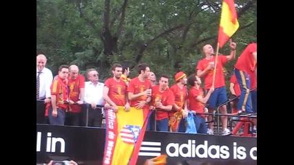 Заедно със футболните звезди на Испания ( В Мадрид)