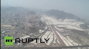 Saudi Arabia: Aerial footage shows Mecca's Grand Mosque under construction