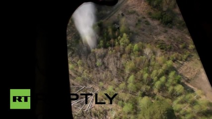 Russia: See EMERCOM chopper battle massive Siberian wildfire