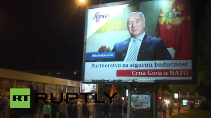 Montenegro: Anti-government protesters clash with police in Podgorica
