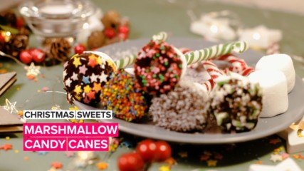 Christmas Sweets: Marshmallow candy canes